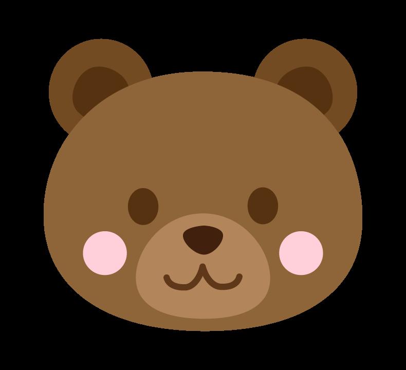 かわいいクマ(顔)のイラスト