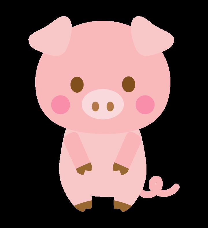 かわいいブタ(豚)のイラスト