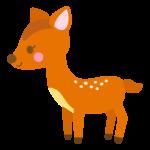かわいい小鹿のイラスト