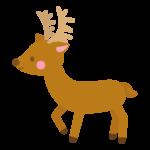 かわいい鹿のイラスト