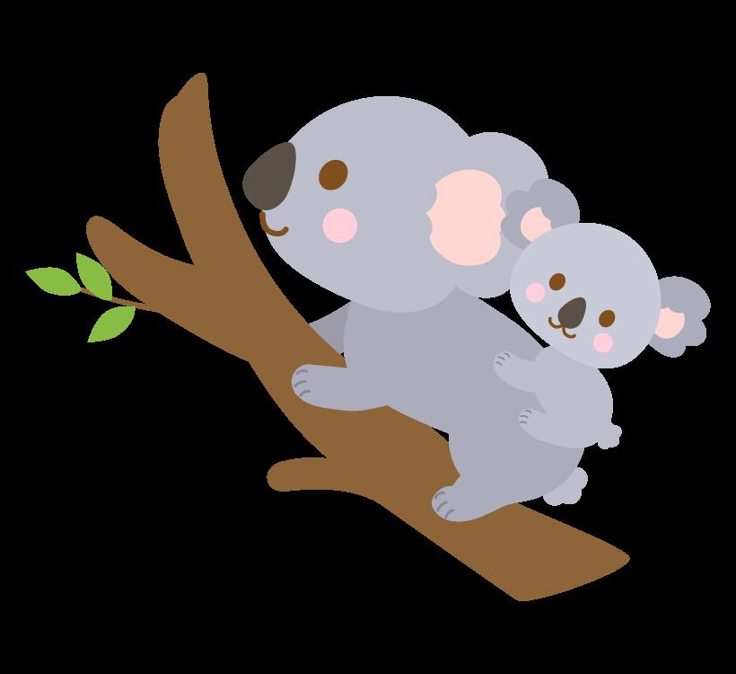 かわいいコアラの親子のイラスト