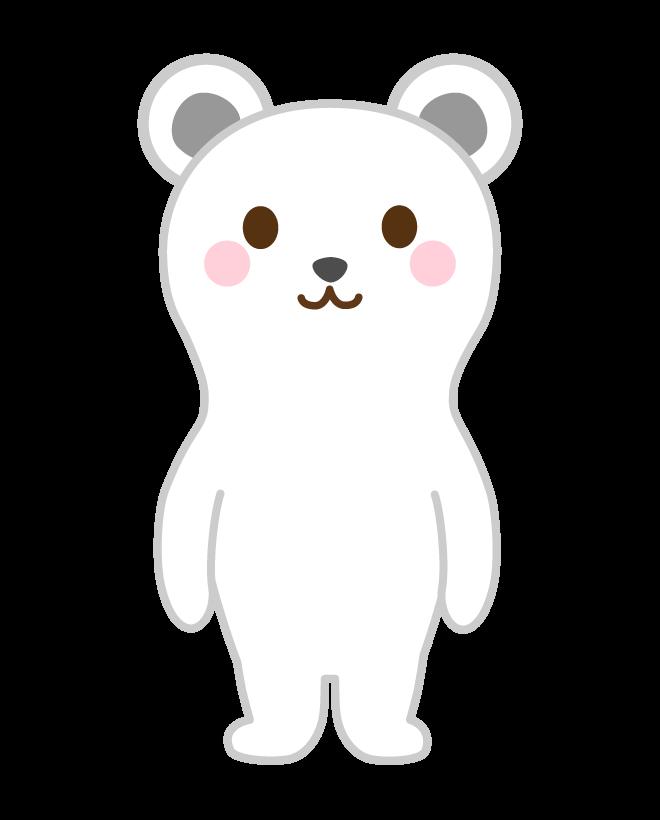 かわいいシロクマのイラスト