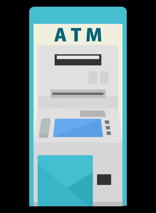 銀行のATMのイラスト