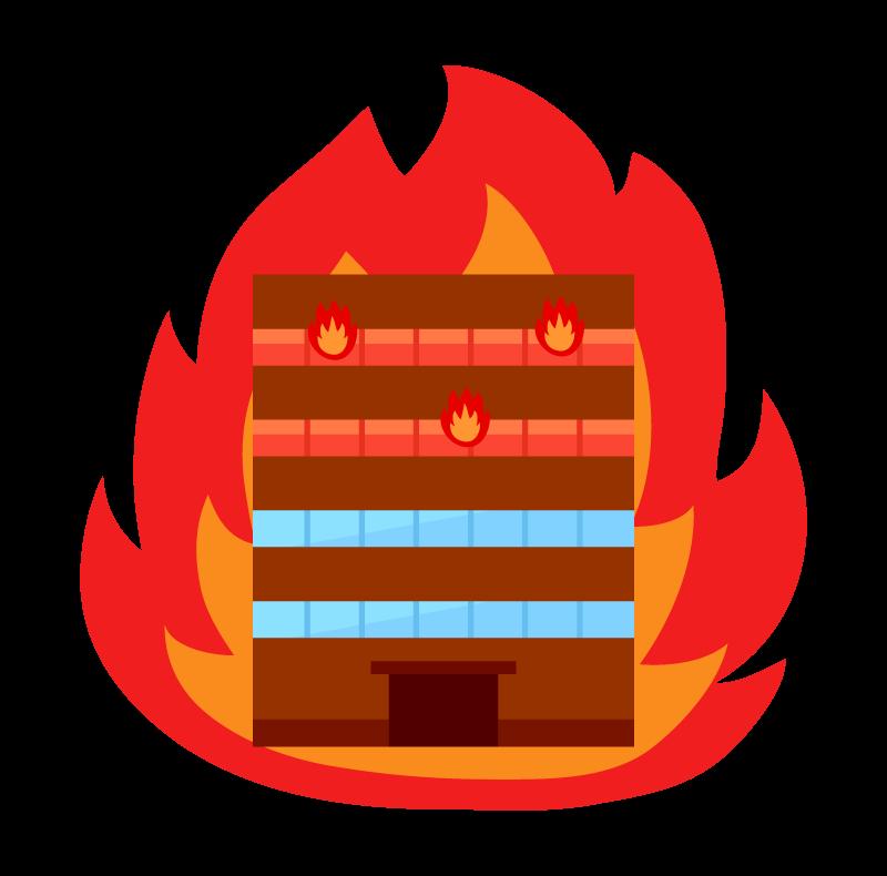 火事・ビル火災のイラスト