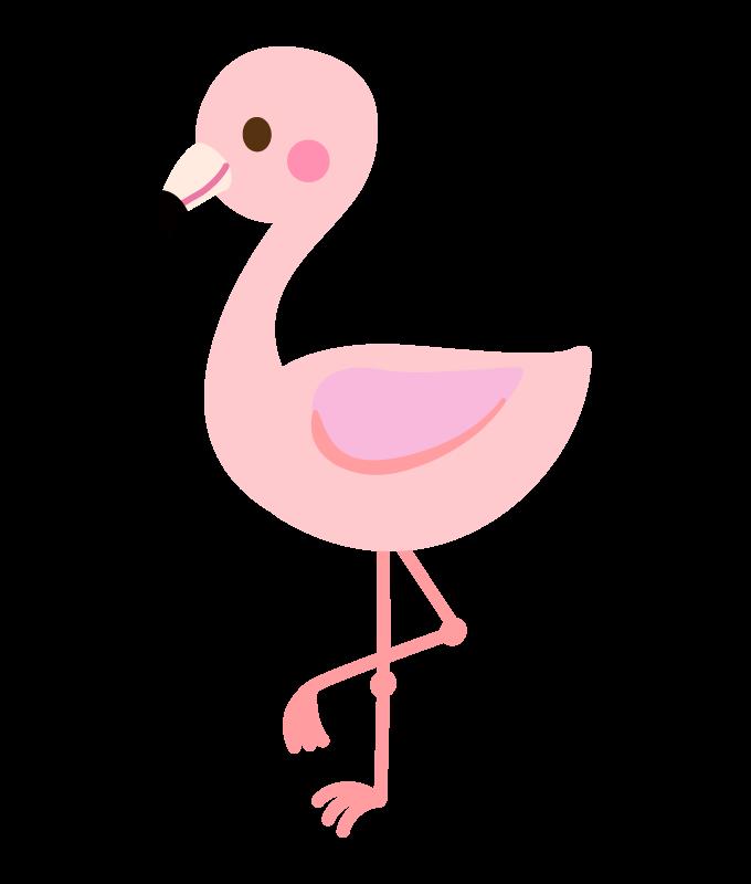 かわいいフラミンゴのイラスト
