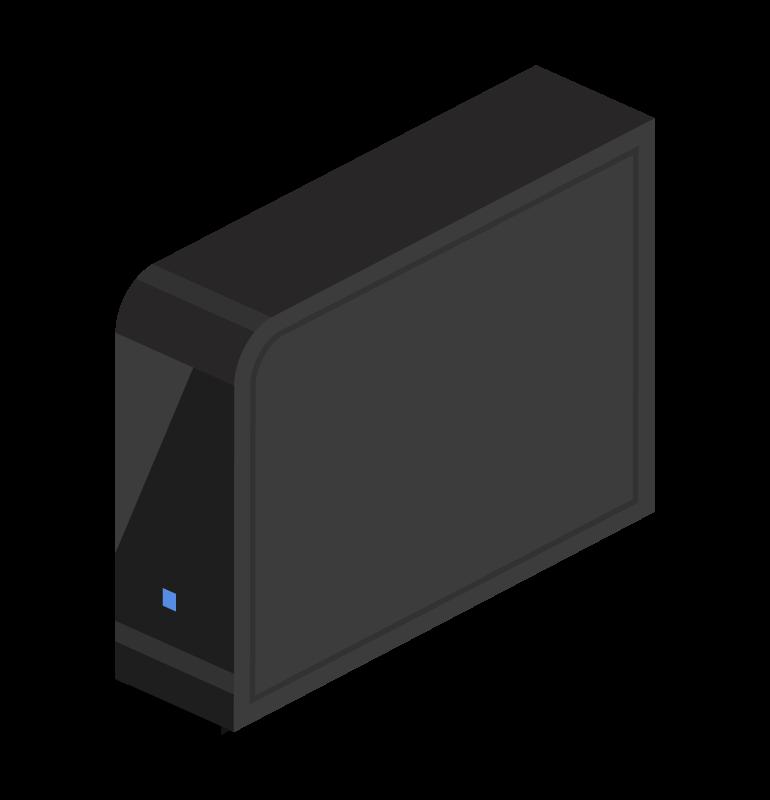 外付けHDD(ハードディスク)のイラスト