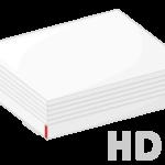 外付けHDD(ハードディスク)のイラスト02