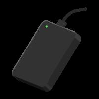 ポータブルHDD(ハードディスク)のイラスト02