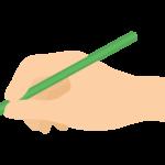 鉛筆を持つ手のイラスト