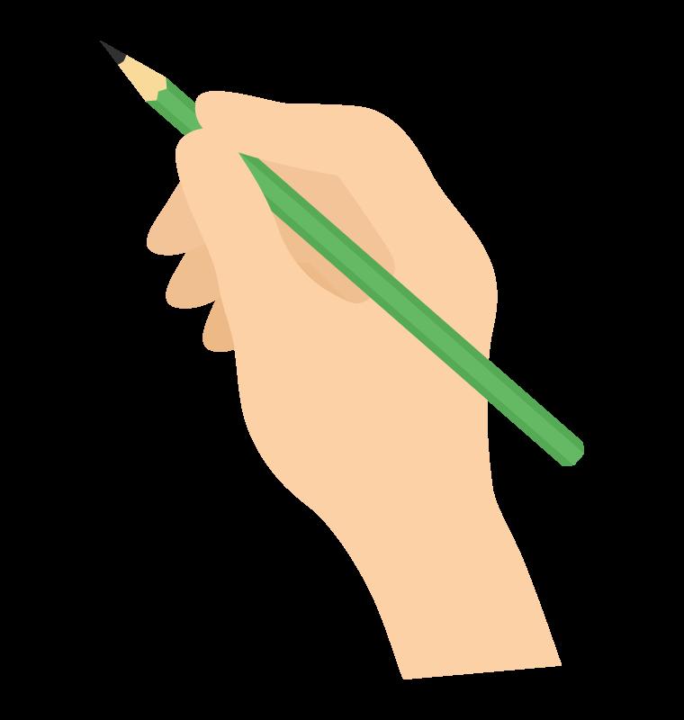 鉛筆を持つ手のイラスト02
