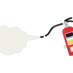 防災・消火器のイラスト