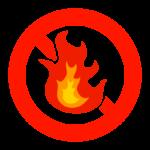 火気厳禁のイラスト
