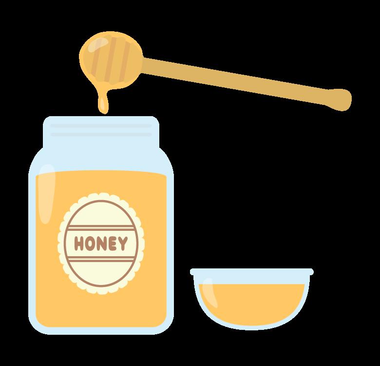 ハチミツ(蜂蜜)のイラスト