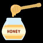 ハチミツとハニーディッパーのイラスト