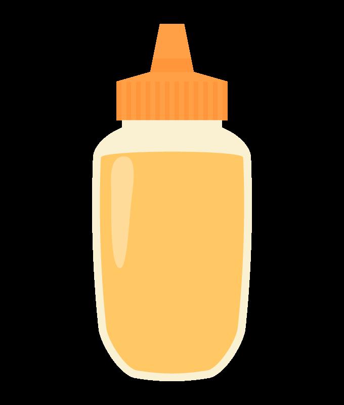 ボトルのハチミツ(蜂蜜)のイラスト