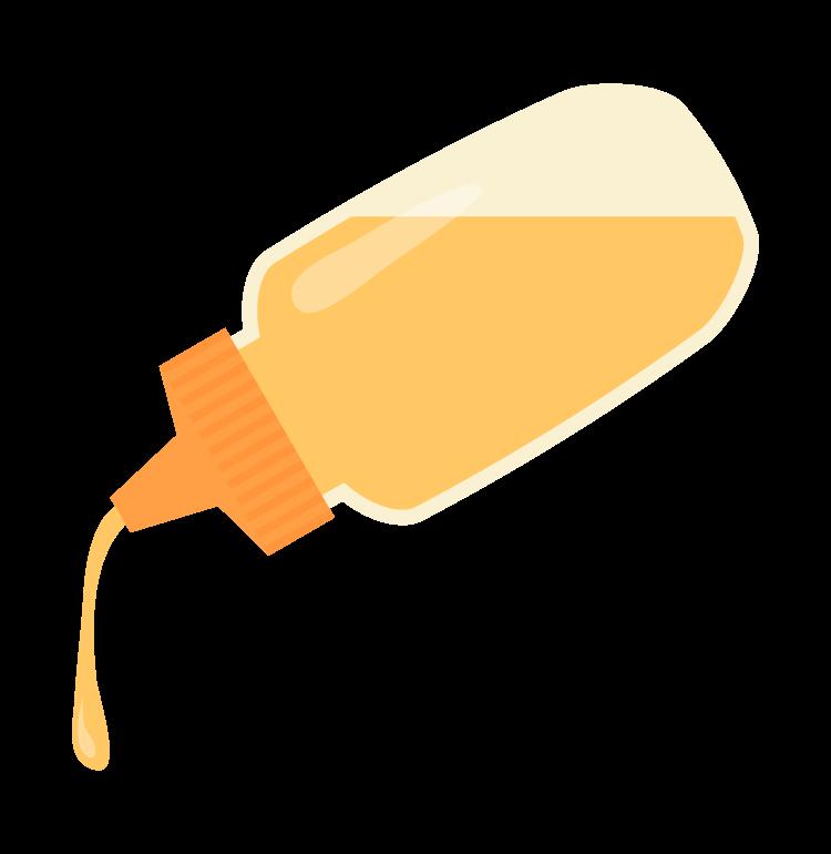 ボトルに入ったハチミツ(蜂蜜)のイラスト