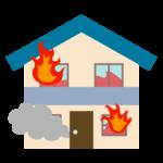 家の火災のイラスト