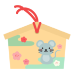 ネズミの絵柄の絵馬のイラスト