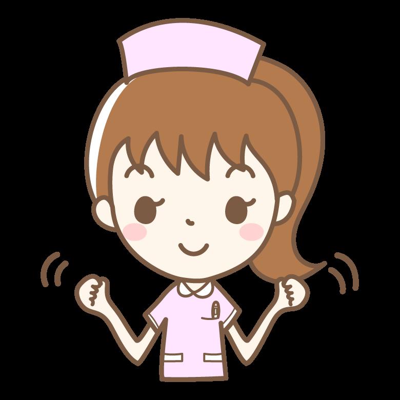 元気な看護師さんのイラスト
