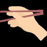 お箸を持つ手のイラスト02