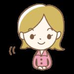笑顔でお辞儀をする女性のイラスト