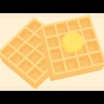 洋菓子・ワッフルのイラスト
