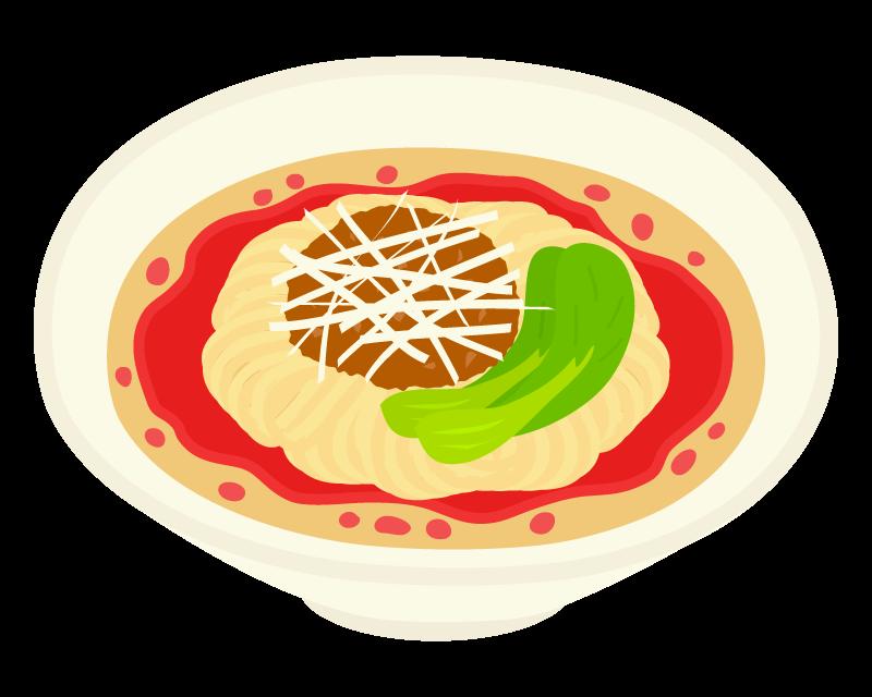 白ごま担々麺のイラスト