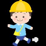 歩いている幼稚園児のイラスト