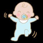 笑顔で動いている赤ちゃんのイラスト