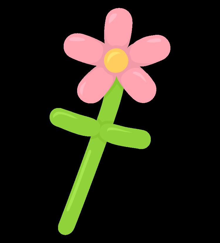 花のバルーンアートのイラスト