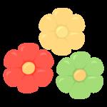 花びら(大輪)のバルーンアートのイラスト