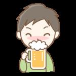 ビールを飲む男性のイラスト