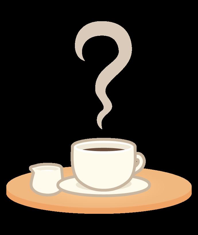 ホットコーヒー(ミルク付き)のイラスト