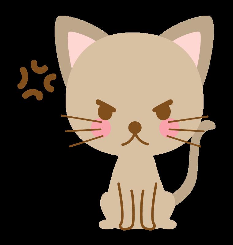 威嚇・怒っている猫のイラスト
