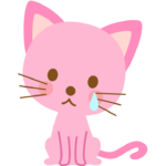 悲しんでいる猫のイラスト02