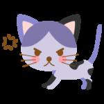 怒っている猫のイラスト