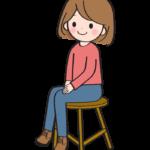 椅子に座っている女性のイラスト