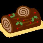 クリスマス・チョコのロールケーキのイラスト