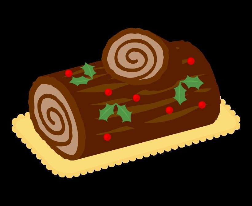 クリスマス・ブッシュドノエルのイラスト