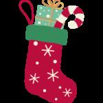 クリスマスの靴下プレゼントのイラスト