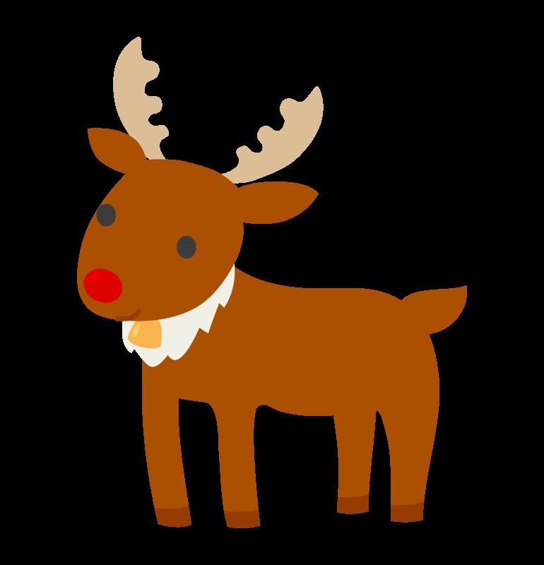 赤い鼻のトナカイのイラスト