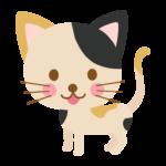 かわいい三毛猫のイラスト