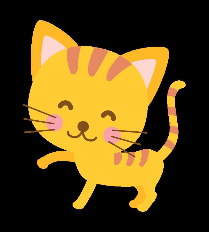 かわいい茶トラ猫のイラスト
