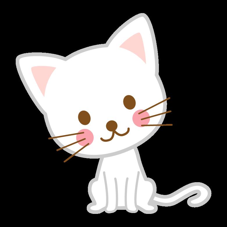 かわいい白い猫のイラスト