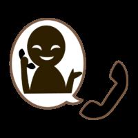 悪徳商法・オレオレ詐欺の電話に注意のイラスト