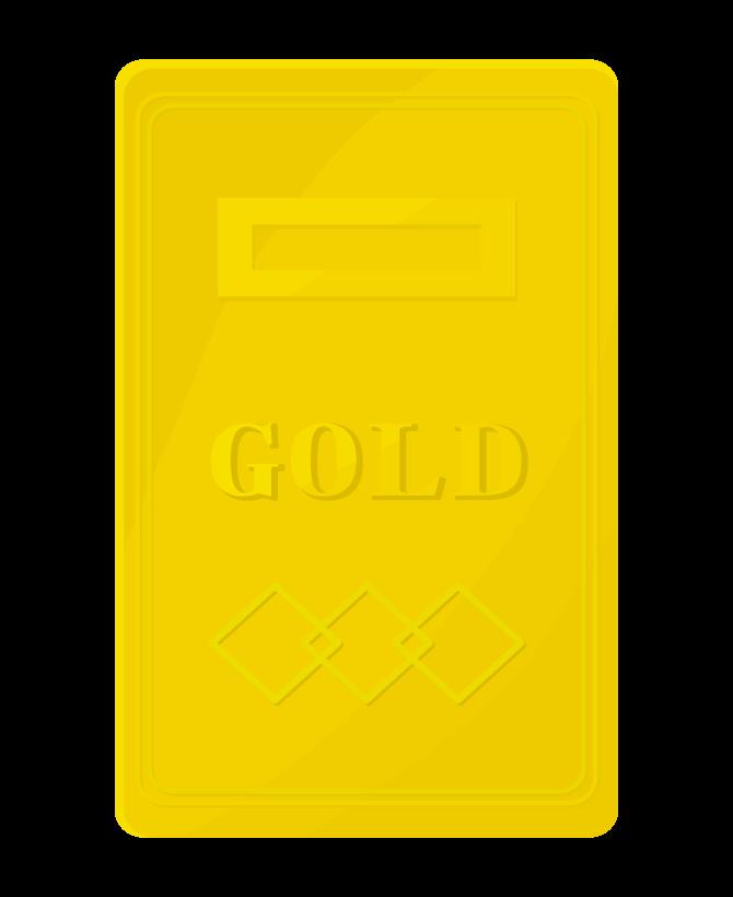 ゴールドバー(金塊)のイラスト