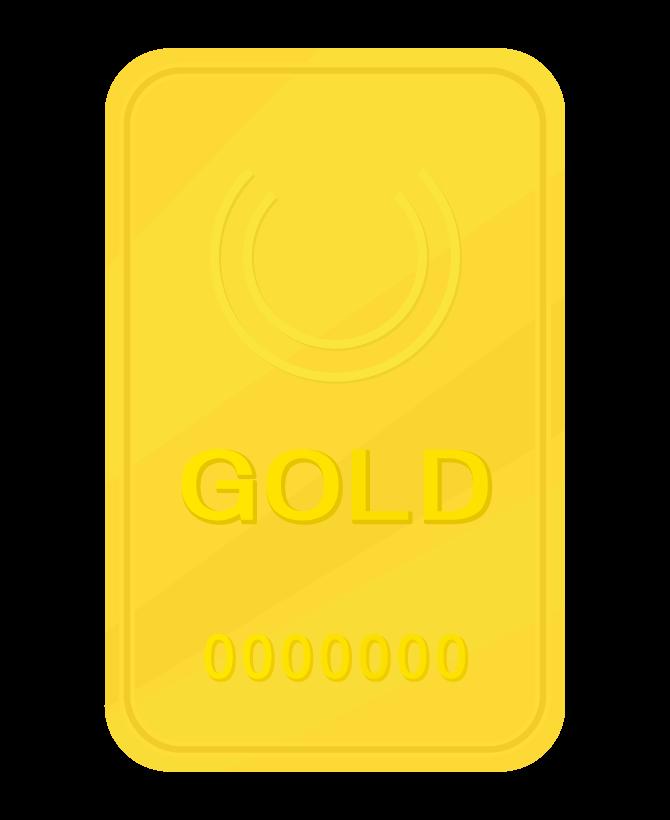 ゴールドバー(金塊)のイラスト02