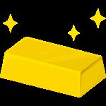 金の延べ棒(金塊)のイラスト