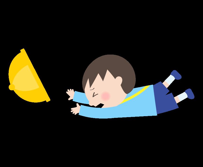 転んでしまった幼稚園児のイラスト