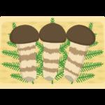かご盛りの松茸のイラスト02